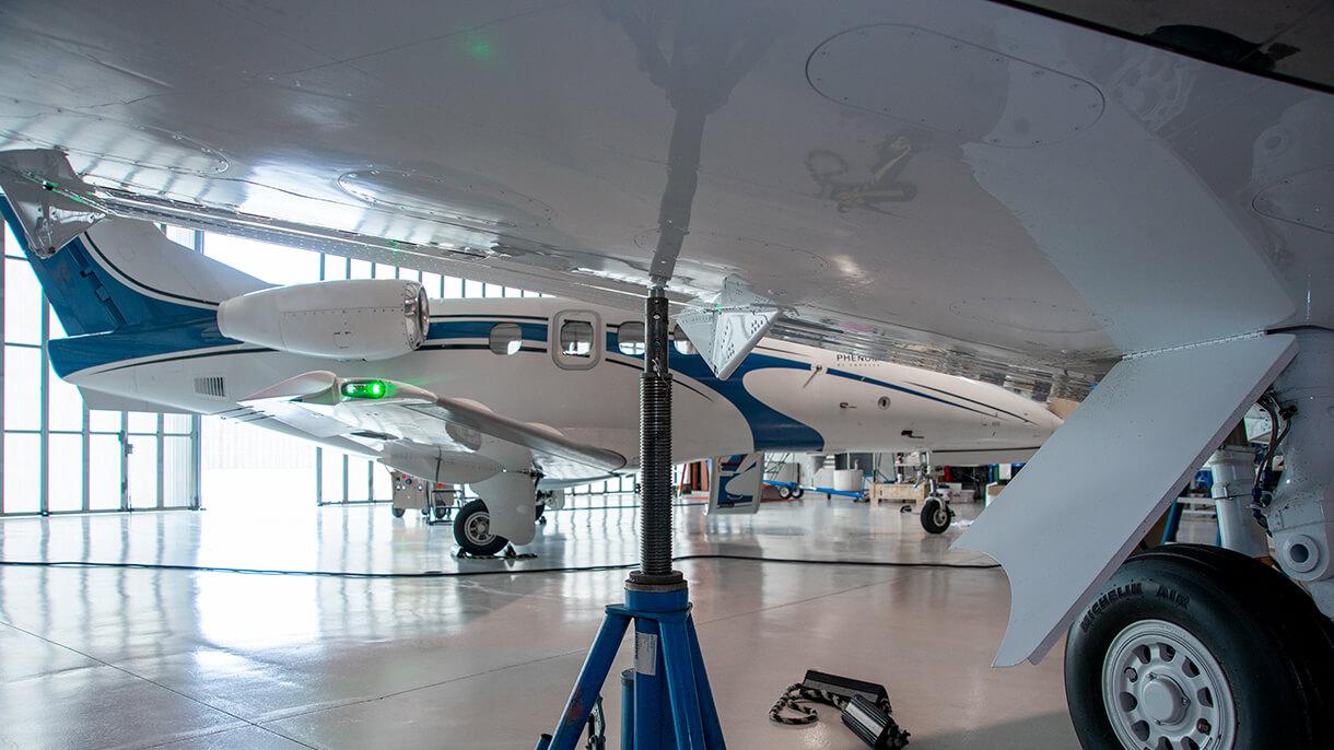 Planes in Hangar at CORR AVIATION facility