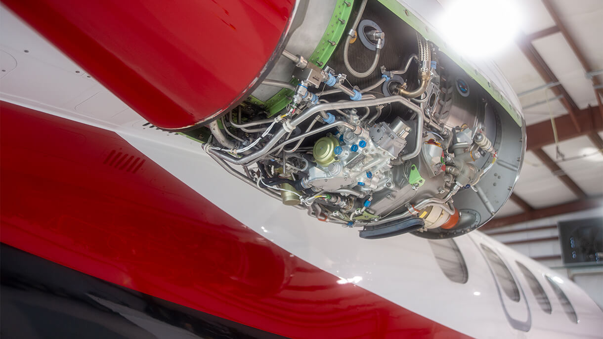 Plane Engine Open for Maintenance